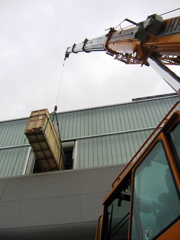 s-curve craned in to ICA Boston